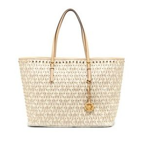 Michael Kors Jet Set Medium Studded Travel Tote Ba